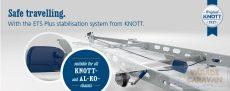ETS Plus kitörésgátló rendszer, egy vagy kéttengelyes lakókocsihoz, Knott alvázas lakókocsikhoz