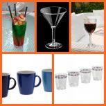 Műanyag poharak és bögrék